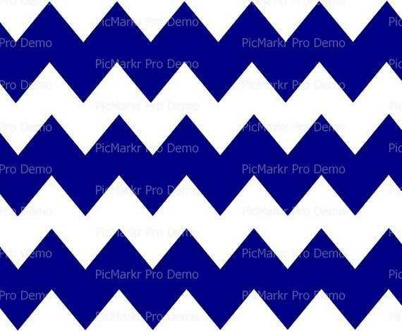 Blue - Chevron Birthday Background - Side Strips ~ Edible 2D Fondant Birthday Cake Side Toppers ~ D10040