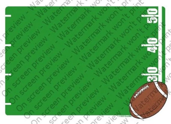 Football Birthday - Edible Cake and Cupcake Topper For Birthday's and Parties! - D4077