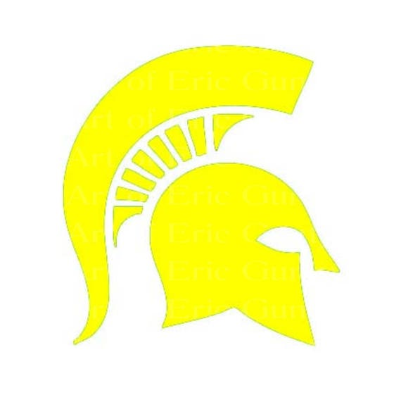 Yellow Spartan Trojan Mascot Birthday ~ Edible 2D Fondant Birthday Cake/Cupcake Topper ~ D22461