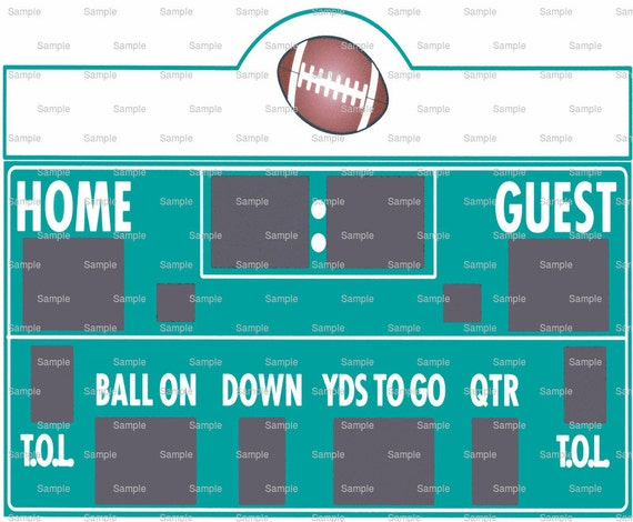 Football Scoreboard Birthday - Edible Cake and Cupcake Topper For Birthday's and Parties! - D755