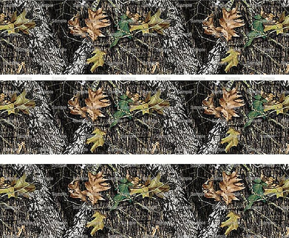 Woodland Camo - Birthday Background - Side Strips ~ Edible 2D Fondant Birthday Cake Side Toppers ~ D5445