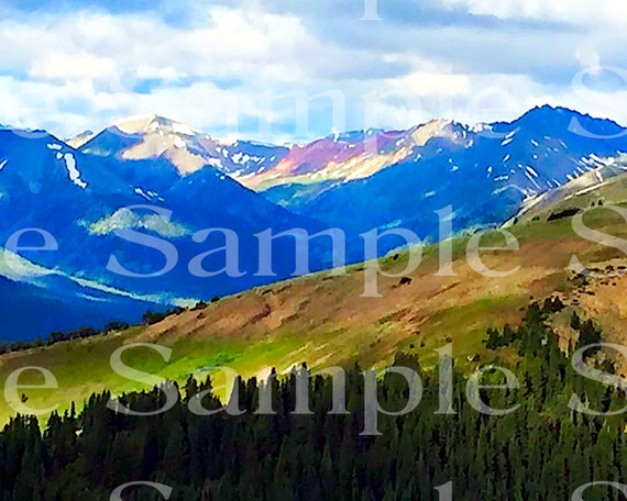 Rocky Mountains Birthday ~ Edible 2D Fondant Birthday Cake/Cupcake Topper ~ D21049