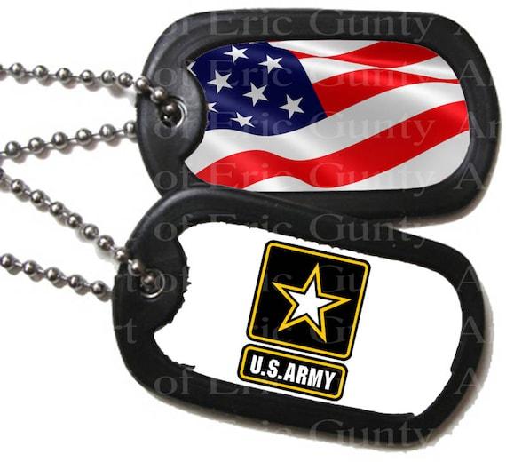 U.S. Army Military Dog Tags Birthday ~ Edible 2D Fondant Birthday Cake/Cupcake Topper ~ D22495