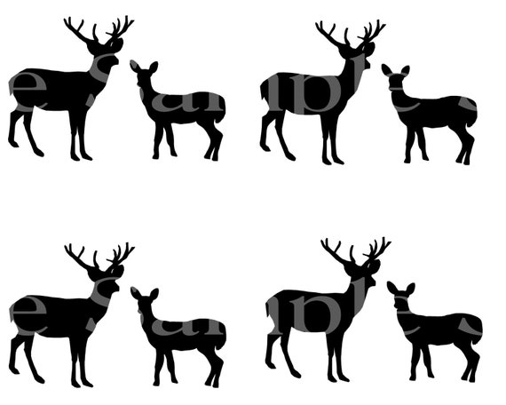 Grazing Deer Hunting Birthday ~ Edible 2D Fondant Birthday Cake Side Toppers ~ D24495