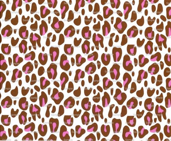 Pink Cheetah Print - Background Birthday ~ Edible 2D Fondant Birthday Cake/Cupcake Topper ~ D1062