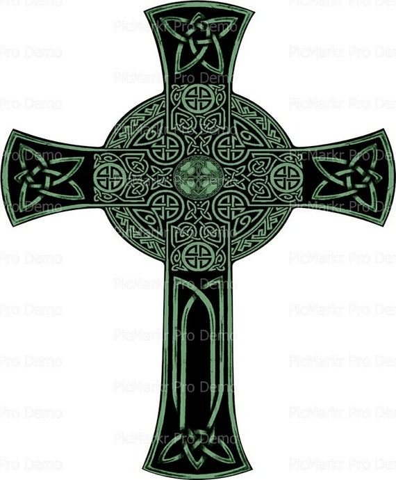 Celtic Cross - Edible Cake and Cupcake Topper For Birthday's and Parties! - D9209