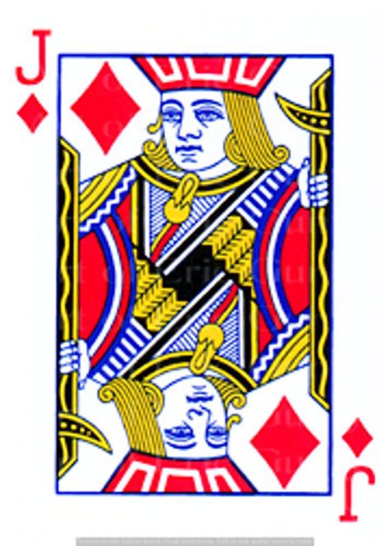 Jack of Diamonds Poker Casino Las Vegas Birthday ~ Edible 2D Fondant Birthday Cake/Cupcake Topper ~ D24145