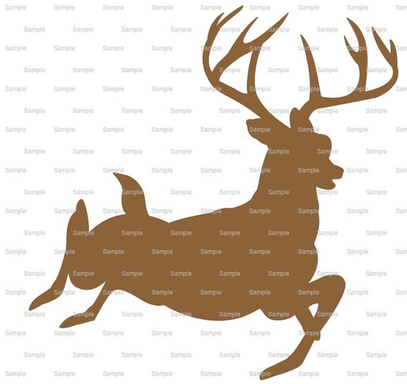 Running Deer Hunting Birthday - Edible Cake and Cupcake Topper For Birthday's and Parties! - D3965