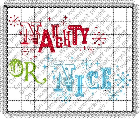 Christmas Naughty List ~ Edible 2D Fondant Birthday Cake/Cupcake Topper ~ D20707