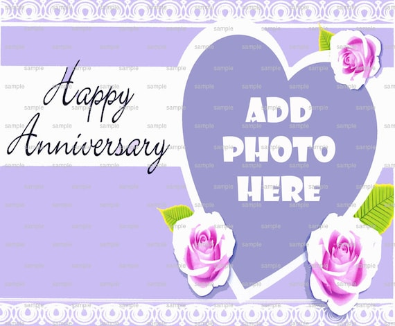 Happy Anniversary ~ Edible 2D Fondant Birthday Cake/Cupcake Topper ~ D4450