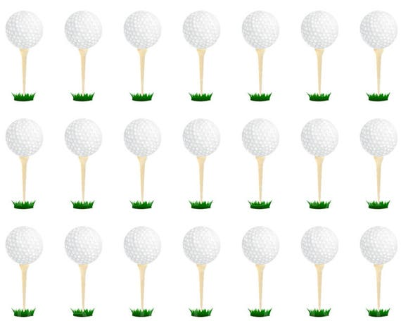 Golfing Tee Birthday - Side Strips - Edible Cake Side Toppers- Decorate The Sides of Your Cake! - D22747