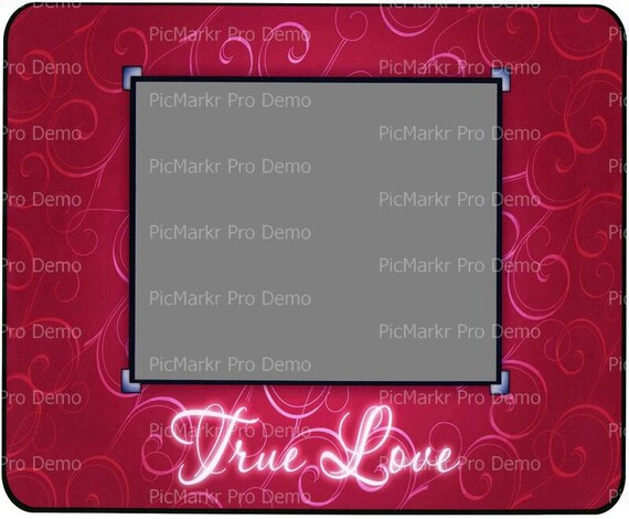 Valentine's Day True Love - Edible Cake and Cupcake Photo Frame For Birthday's and Parties! - D4454