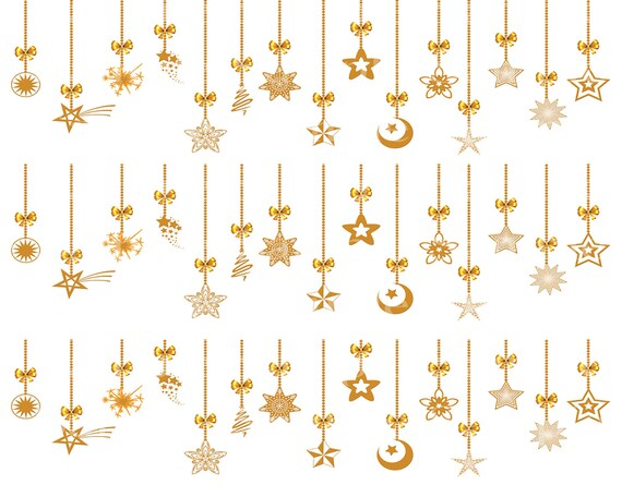Gold Merry Christmas Ornaments - Edible Cake Side Toppers- Decorate The Sides of Your Cake! - D24213