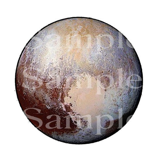 Planet Pluto Space Birthday ~ Edible 2D Fondant Birthday Cake/Cupcake Topper ~ D24599
