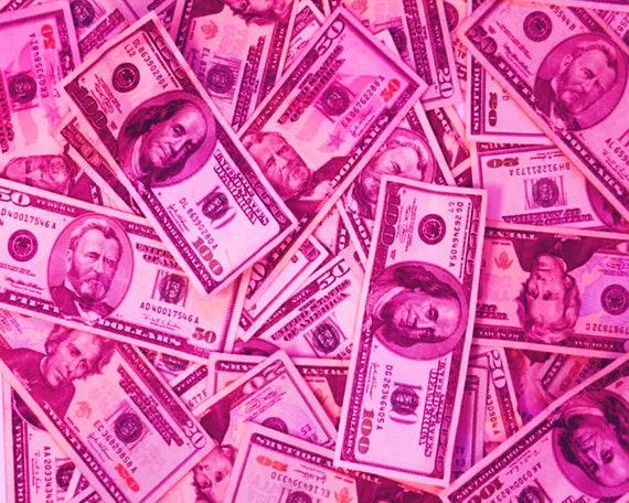 Pink Money Las Vegas Birthday ~ Edible 2D Fondant Birthday Cake/Cupcake Topper ~ D24668