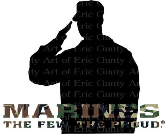 Marines Camo Birthday ~ Edible 2D Fondant Birthday Cake/Cupcake Topper ~ D21919