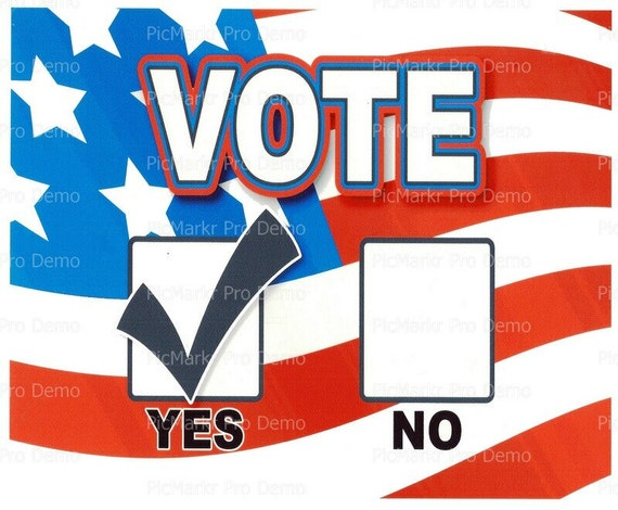 Vote Yes Political Image ~ Edible 2D Fondant Birthday Cake/Cupcake Topper ~ D185