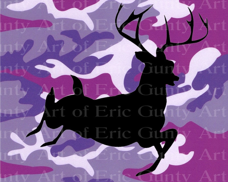 Purple Camo Deer Hunting Birthday