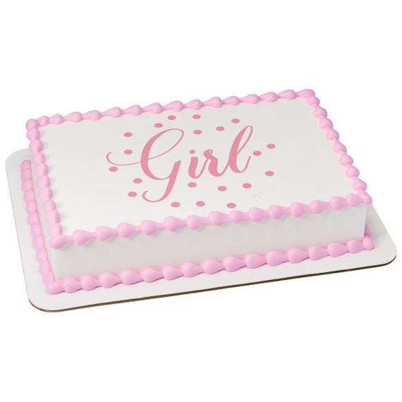 Baby Shower Girl Pink Birthday - Edible Cake and Cupcake Topper For Birthday's and Parties! - D24085