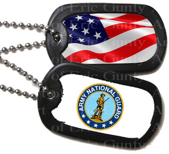 Army National Guard Military Dog Tags Birthday - Edible Cake and Cupcake Topper For Birthday's and Parties! - D22496