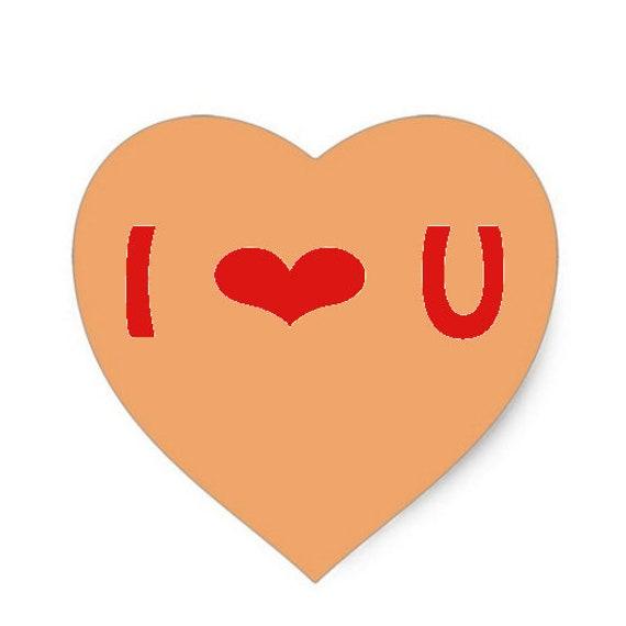 Valentine's Day I Love You Heart ~ Edible 2D Fondant Birthday Cake/Cupcake Topper ~ D24671