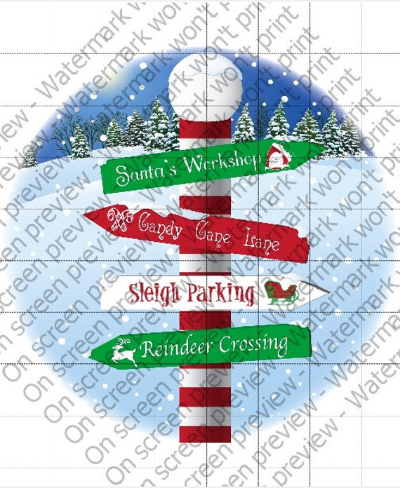 Christmas North Pole - Edible Cake and Cupcake Topper For Birthday's and Parties! - D1459