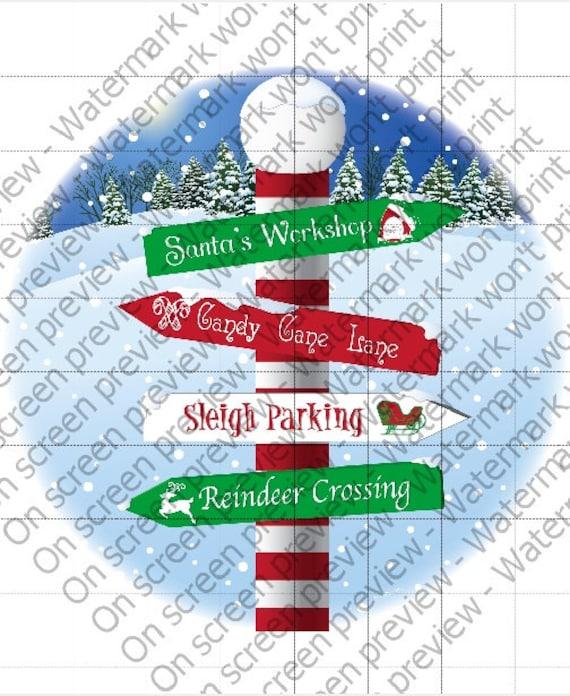 Christmas North Pole ~ Edible 2D Fondant Birthday Cake/Cupcake Topper ~ D1459
