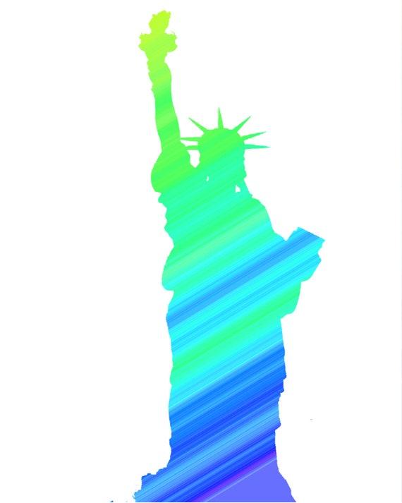 Statue of Liberty Birthday ~ Edible 2D Fondant Birthday Cake/Cupcake Topper ~ D24722