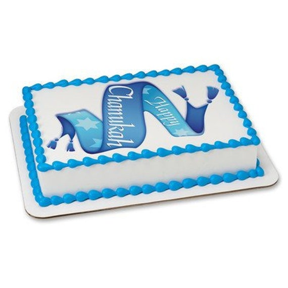 Happy Chanukah Religious Birthday - Edible Cake and Cupcake Topper For Birthday's and Parties! - D24076