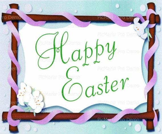 Happy Easter ~ Edible 2D Fondant Birthday Cake/Cupcake Topper ~ D2235