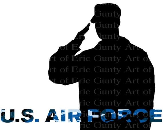 U.S. Air Force Military Birthday ~ Edible 2D Fondant Birthday Cake/Cupcake Topper ~ D21932