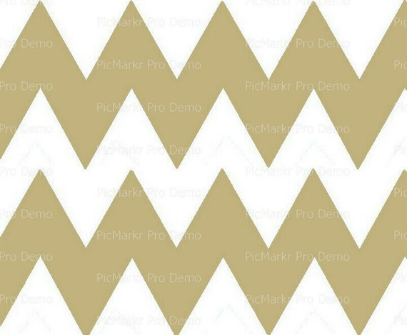 """Sand 4"""" - Chevron Birthday Background - Side Strips ~ Edible 2D Fondant Birthday Cake Side Toppers ~ D10044"""