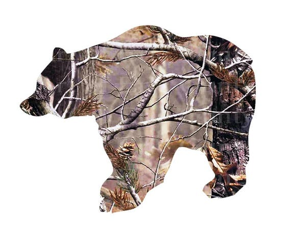 Hunting Camo Bear Birthday - Edible Cake and Cupcake Topper For Birthday's and Parties! - D22579