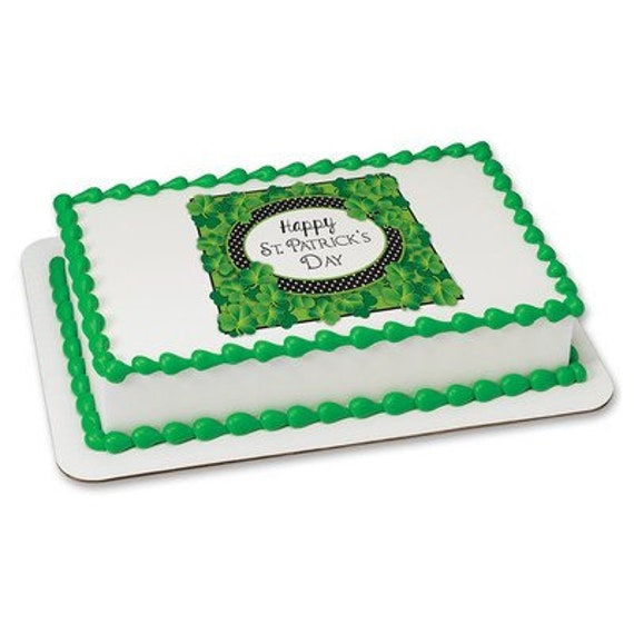 Happy St. Patrick's Day Birthday - Edible Cake and Cupcake Topper For Birthday's and Parties! - D24080