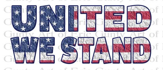 United We Stand America 4th of July - Edible Cake and Cupcake Topper For Birthdays and Parties! - D24008