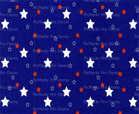 Red White and Blue Patriotic Stars - Edible Cake and Cupcake Topper For Birthday's and Parties! - D2939