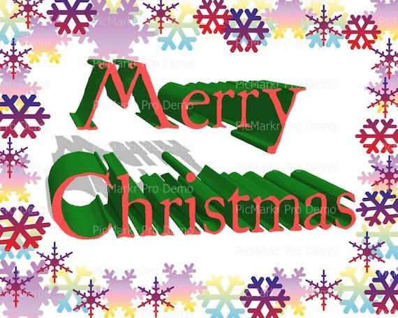 Merry Christmas Holidays Snowflakes - Background Birthday ~ Edible 2D Fondant Birthday Cake/Cupcake Topper ~ D21797