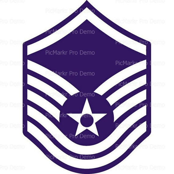 Air Force Master Sgt Insignia Birthday - Edible Cake and Cupcake Topper For Birthday's and Parties! - D20438