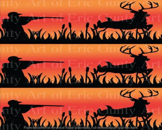 Astonishing Orange Deer Hunting Birthday Edible 2D Fondant Birthday Cake Etsy Funny Birthday Cards Online Elaedamsfinfo