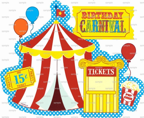 Carnival Birthday - Edible Cake and Cupcake Topper For Birthday's and Parties! - D1473