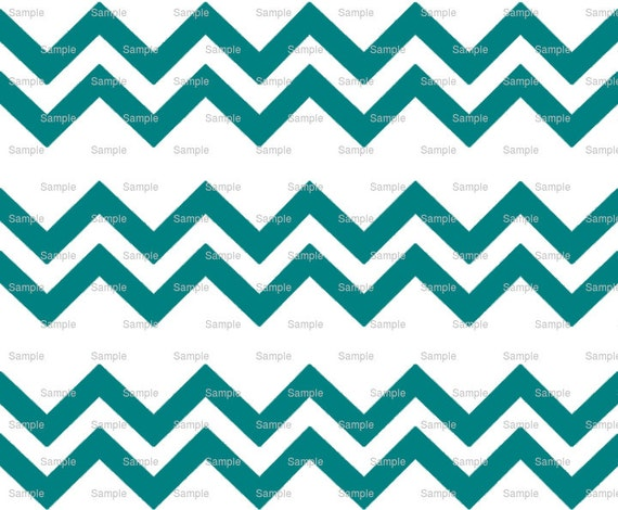 Teal - Chevron Birthday Background - Side Strips - Edible Cake Side Toppers- Decorate The Sides of Your Cake! - D9900