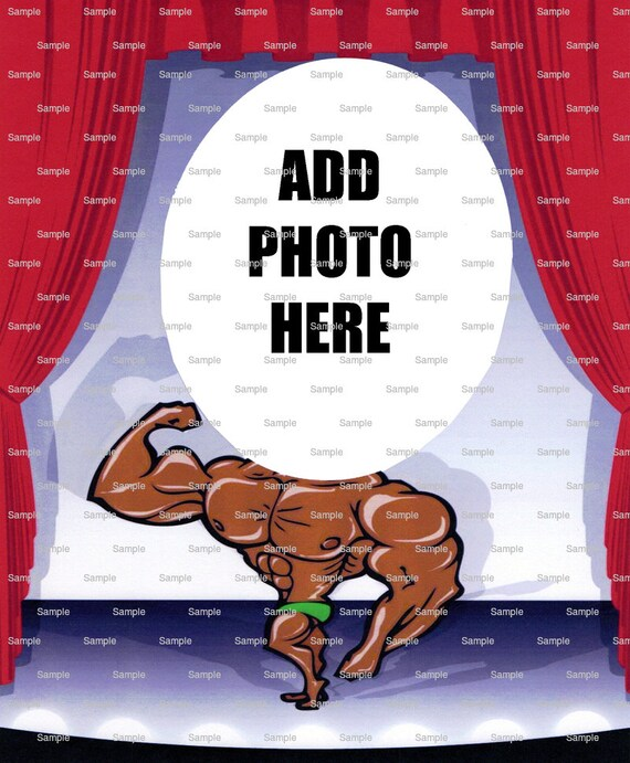 Bodybuilder Birthday - Edible Cake and Cupcake Photo Frame For Birthdays and Parties! - D4392