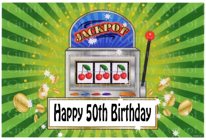 50th Birthday Las Vegas Casino Slot Machine