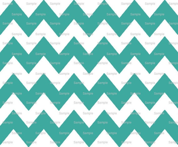 Light Sea Green- Chevron Background Birthday - Edible Cake and Cupcake Topper For Birthday's and Parties! - D9830