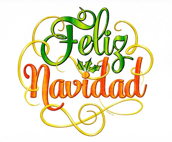 Feliz Navidad Christmas - Edible Cake and Cupcake Topper For Birthday's and Parties! - D22533