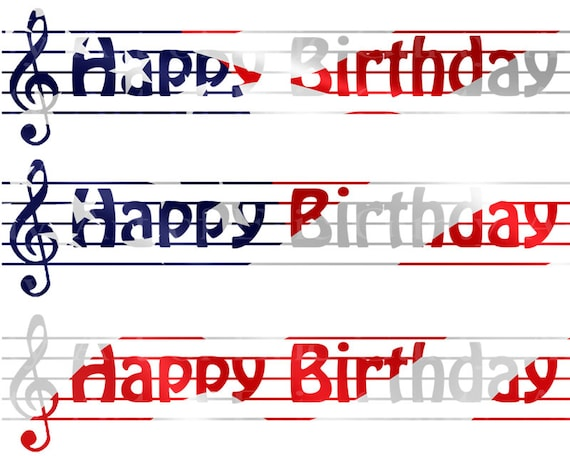 Patriotic Music Band Notes - Birthday Background - Side Strips ~ Edible 2D Fondant Birthday Cake Side Toppers ~ D22681