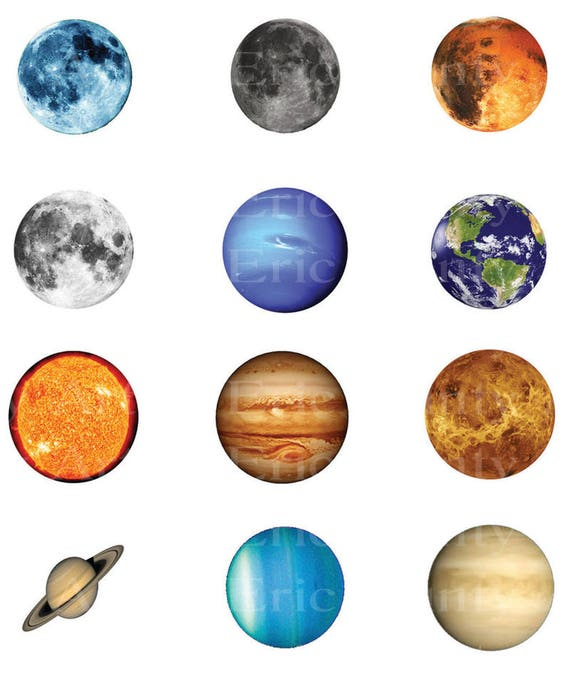 Solar System Planets Birthday ~ Edible 2D Fondant Birthday Cake/Cupcake Topper ~ D22926
