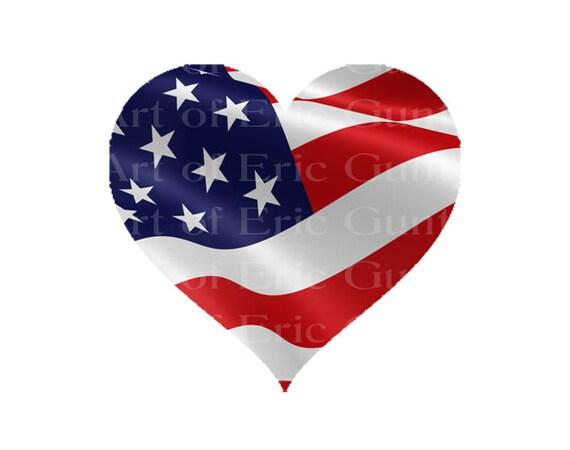 Las Vegas Patriotic Heart Birthday ~ Edible 2D Fondant Birthday Cake/Cupcake Topper ~ D22782