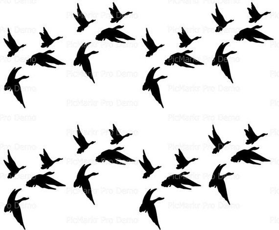 Duck Hunting Flying Ducks Side Strips ~ Edible 2D Fondant Birthday Cake Side Toppers ~ D20193
