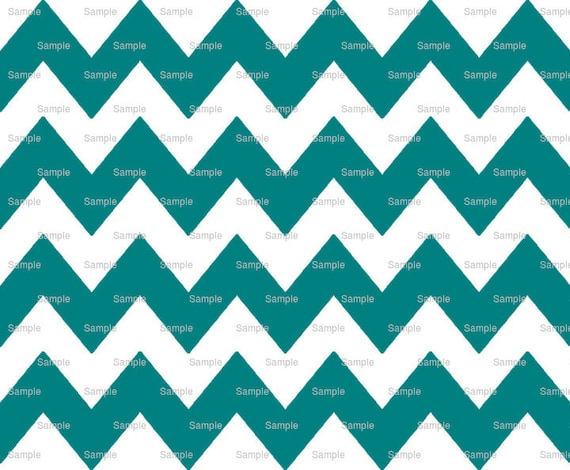 Teal - Chevron Background Birthday ~ Edible 2D Fondant Birthday Cake/Cupcake Topper ~ D9850